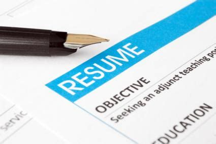 Resume writing tips objective